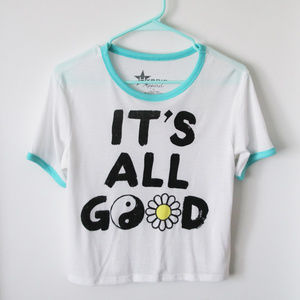 43943397f8505 jcpenney Tops - It s All Good Graphic T-Shirt (Juniors Large)
